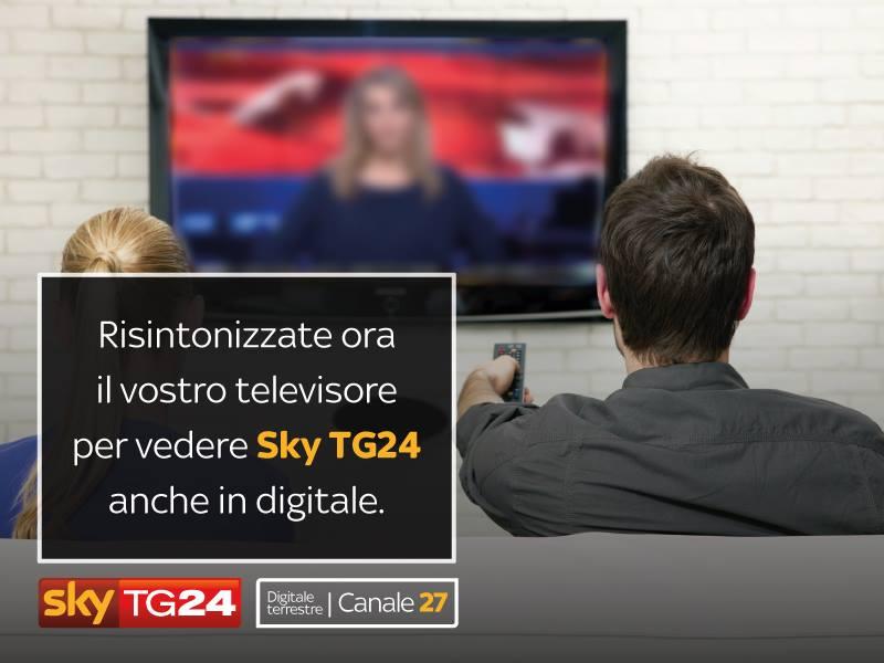 SKY TG24 DISPONIBILE SUL CANALE 27 DEL DIGITALE TERRESTRE SKY TG24