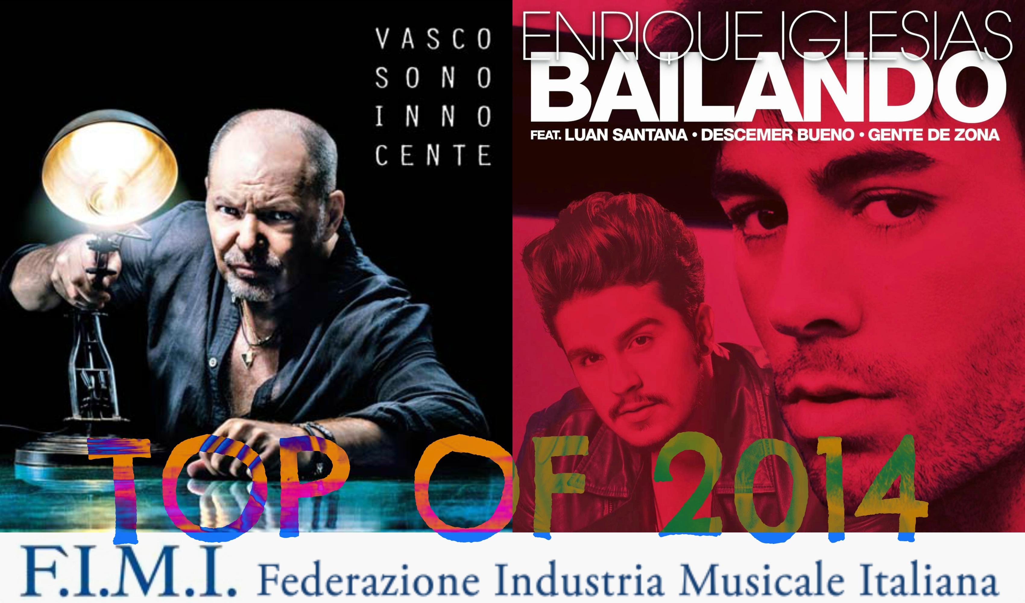 ♫BUBINOMUSIC ♪SPECIALE: GLI ALBUM E I SINGOLI PIÙ VENDUTI DEL 2014. DOMINIO DELLA MUSICA ITALIANA TRA VASCO, FERRO, MODA'. FEDEZ E RENGA PRIMI ITALIANI NEI SINGOLI MA DOMINA BAILANDO (RAGGIUNTO IL SETTIMO PLATINO) PicMonkey Collage (1)