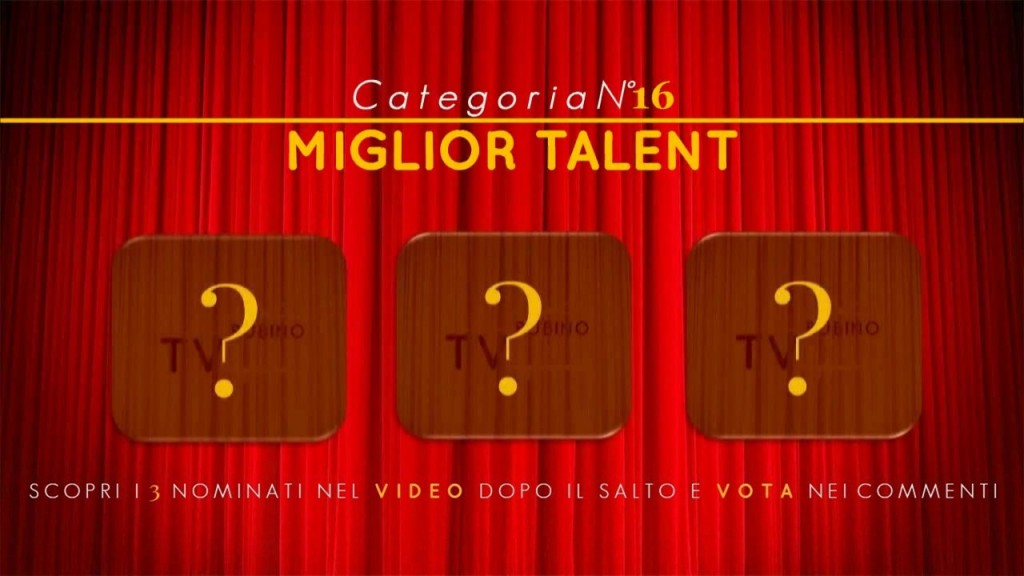 PREMIO TV BUBINOBLOG 2015 CATEGORIA N°16:  MIGLIOR TALENT Copertina16