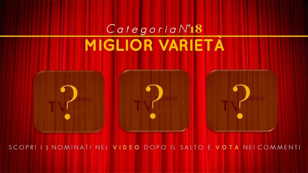 PREMIO TV BUBINOBLOG 2015 CATEGORIA N°18:  MIGLIOR VARIETÀ  Copertina18