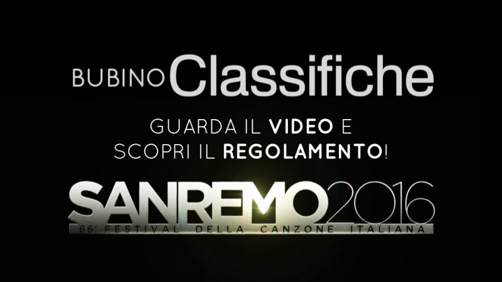 FESTIVAL DI SANREMO 2016 GUARDA IL VIDEO