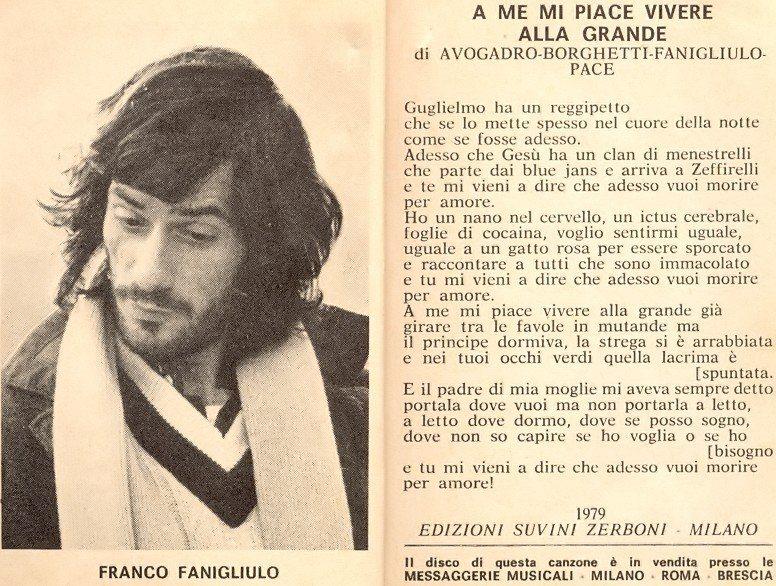 LA STORIA DEL FESTIVAL DI SANREMO 1979-29° EDIZIONE. L'AVANSPETTACOLO. IL RILANCIO RINVIATO. IL REVIVAL FALLITO (a cura di Sante Longo) fanigliulo