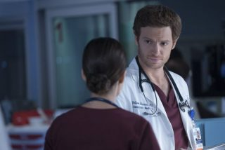 """ASCOLTI TV USA DI GIOVEDÌ 12 GENNAIO 2017 CHICAGO MED -- """"Heart Matters"""" Episode 210 -- Pictured: Nick Gehlfuss as Will Halstead -- (Photo by: Elizabeth Sisson/NBC)"""