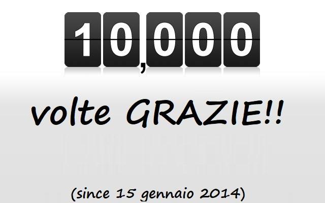 10.000 POST, 10.000 GRAZIE