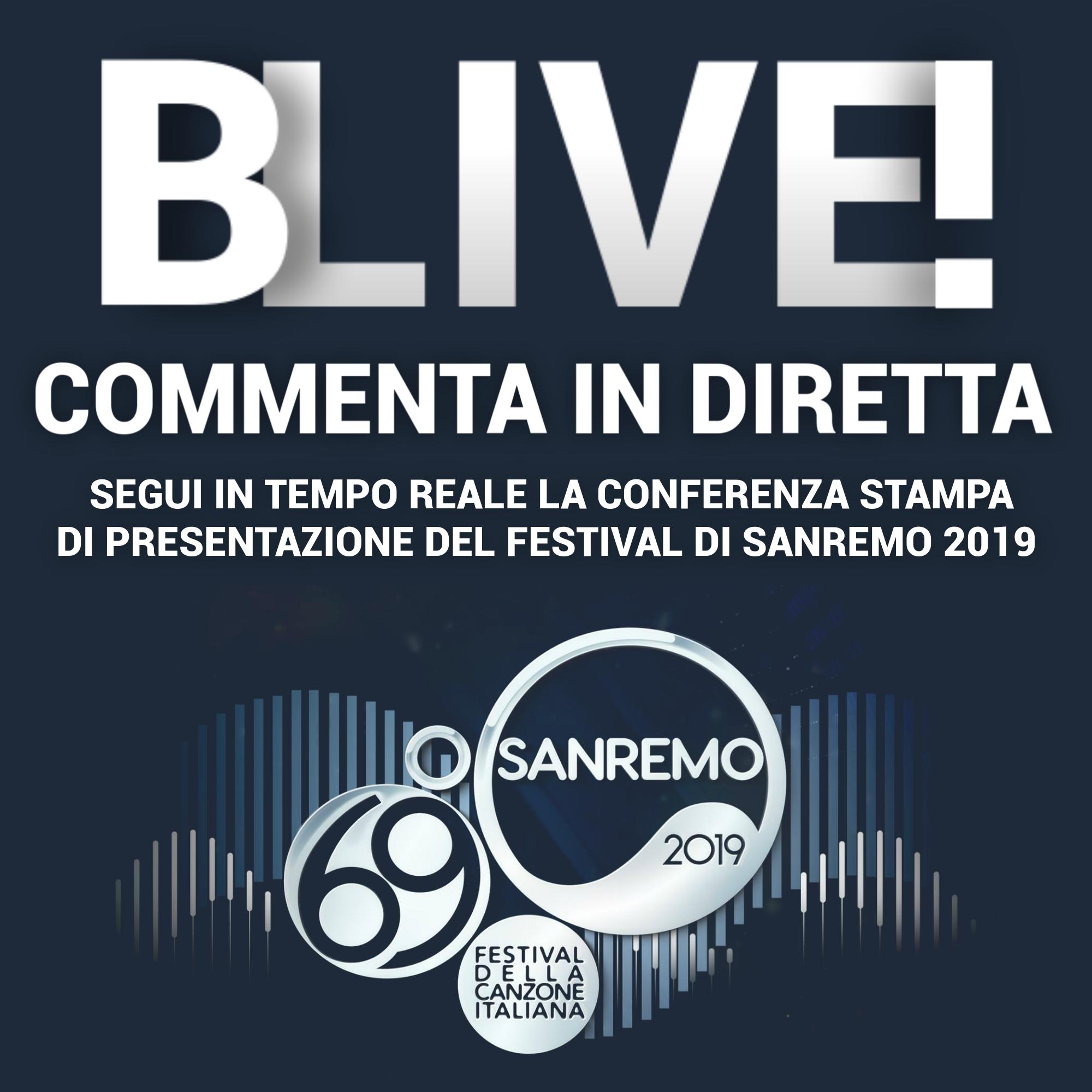 CONFERENZA STAMPA DEL FESTIVAL DI SANREMO 2019