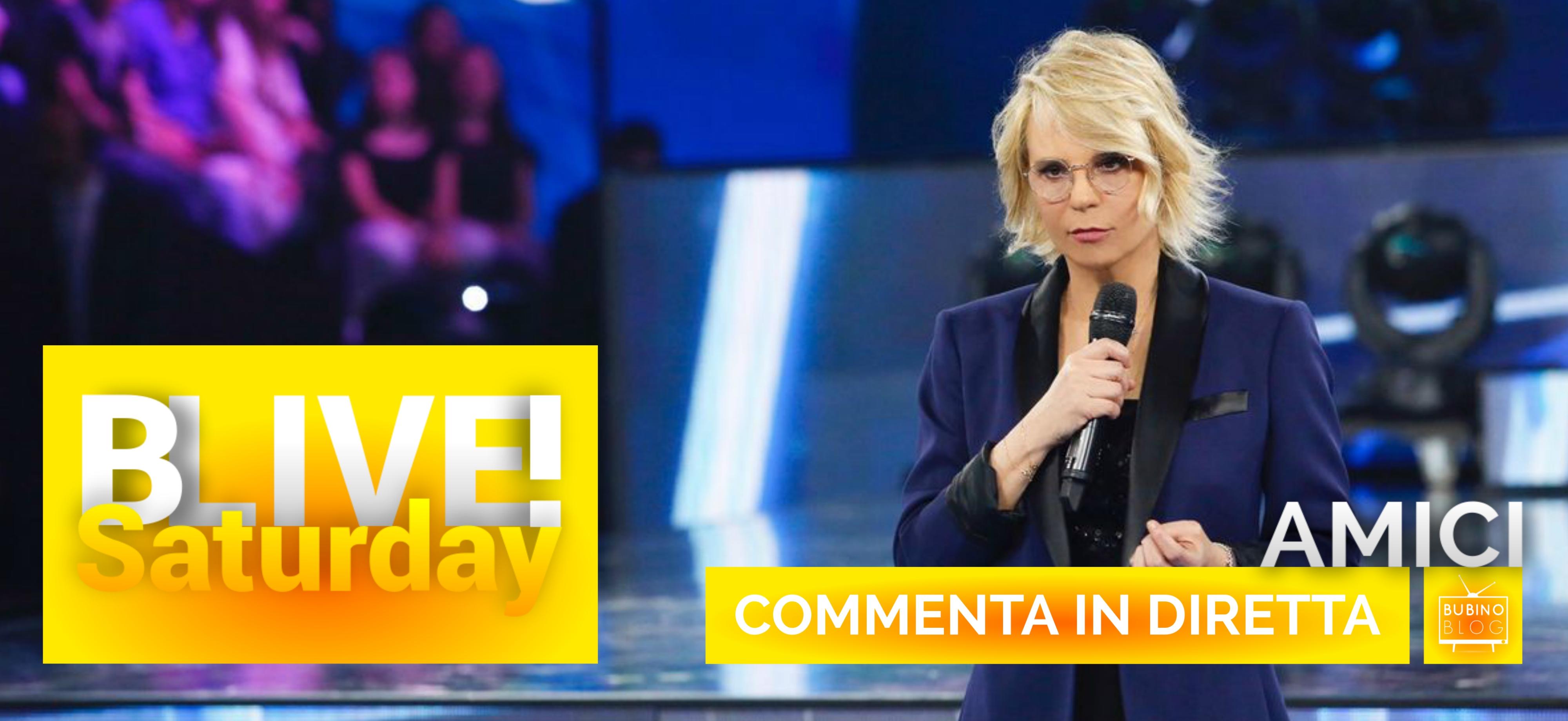 BLIVE!SATURDAY | 13 APRILE 2019 | COMMENTA IN DIRETTA LA TERZA PUNTATA DELLA 18ª EDIZIONE DI #AMICI18 (CANALE5)