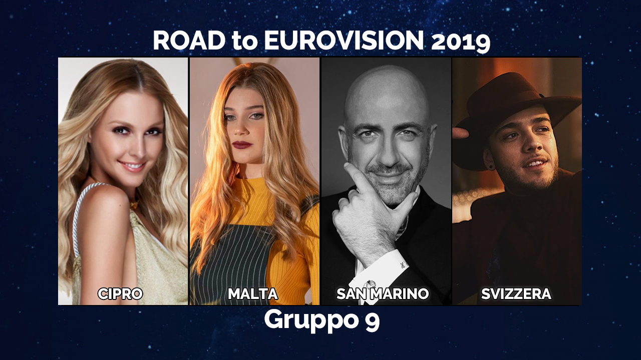 ROAD TO #EUROVISION 2019: CIPRO, MALTA, SAN MARINO E SVIZZERA