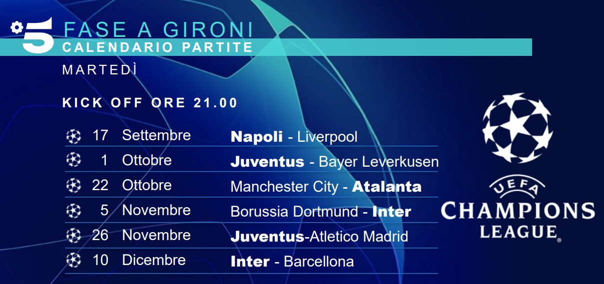 Calendario Partite Champions.Il Calendario Della Champions League Ecco Le Partite Di